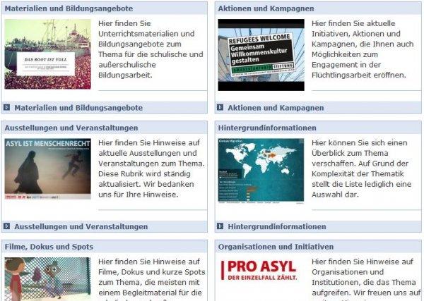 Materialien und Informationen zum Thema Migration, Flucht und Asyl