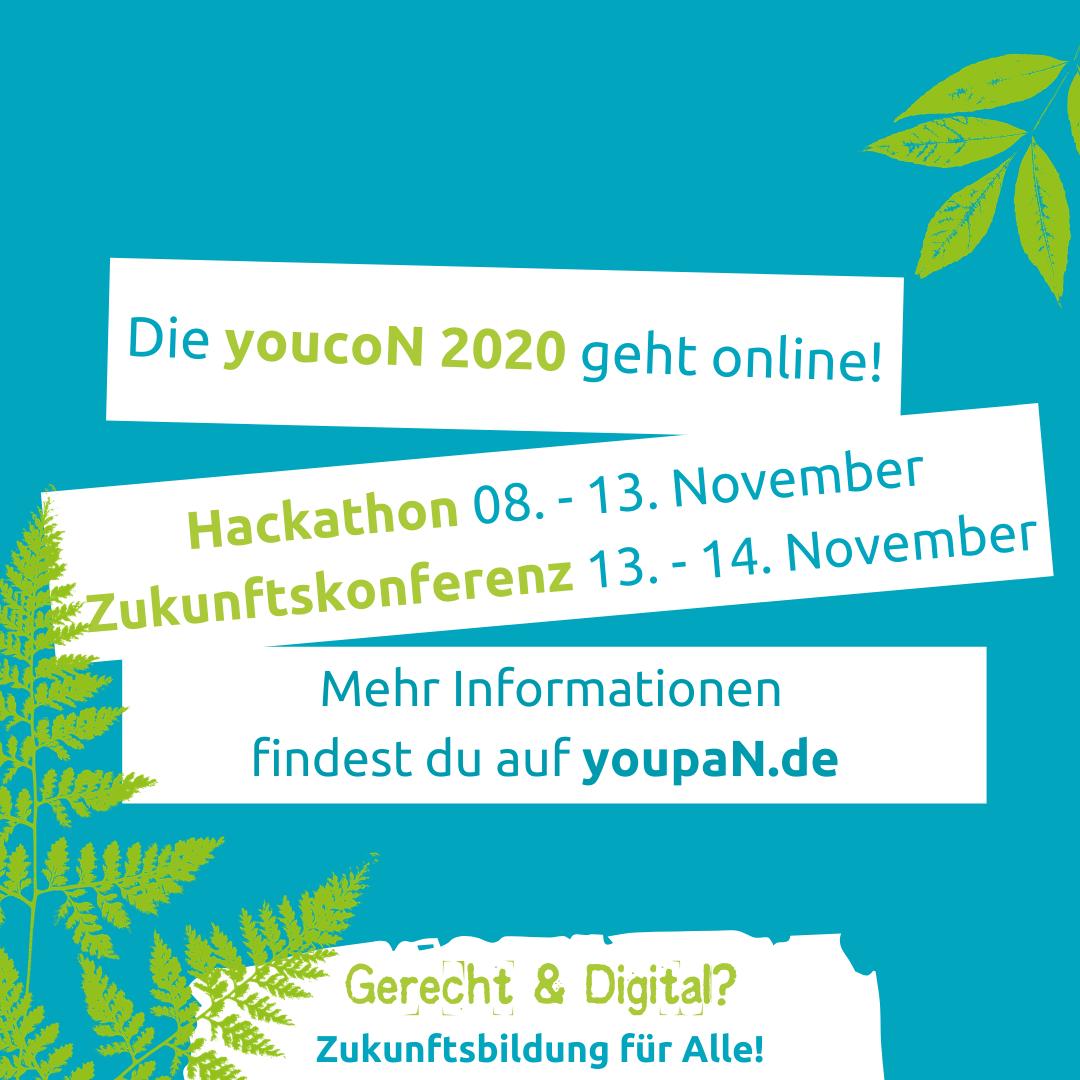 Gerecht und digital? Jetzt registrieren für youcoN-Zukunftskonferenz und Hackathon im November!