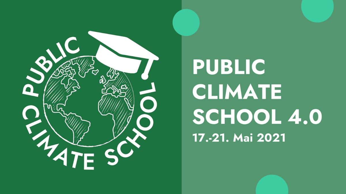 Save the date: Public Climate School vom 17. bis 21. Mai 2021